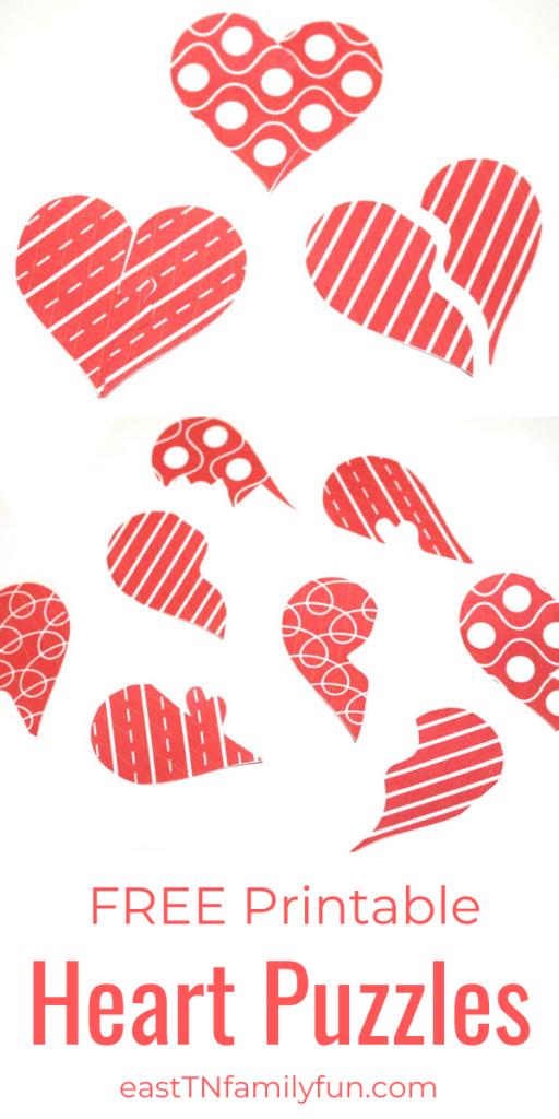printable valentines heart puzzles