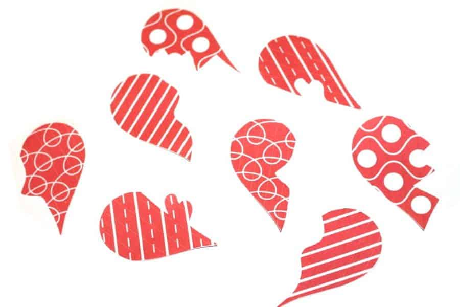 printable heart puzzles for Valentine's Day