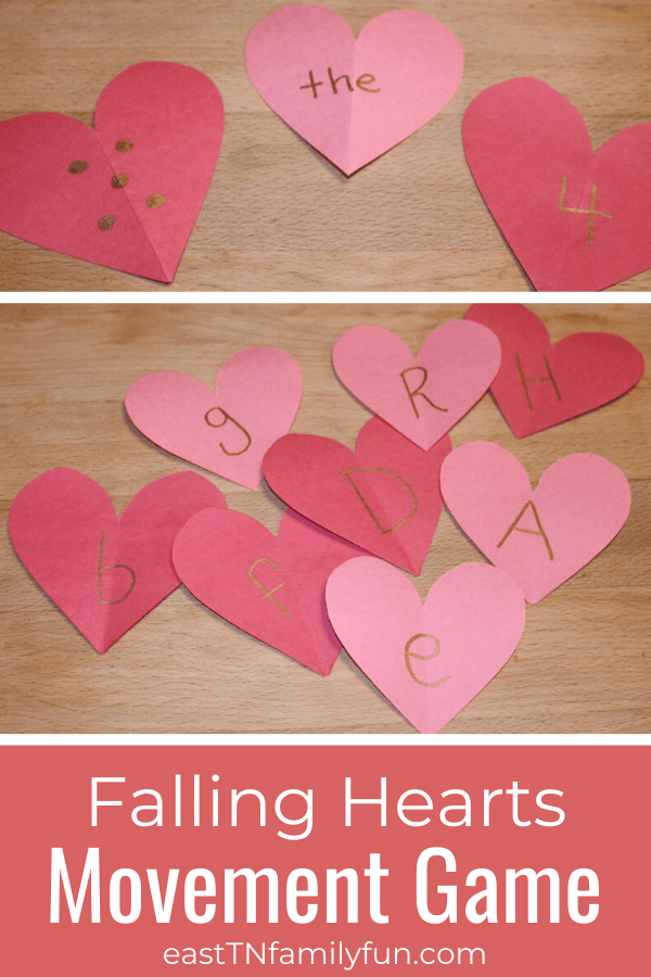 Falling Hearts Valentine's Day Learning Game for Kids
