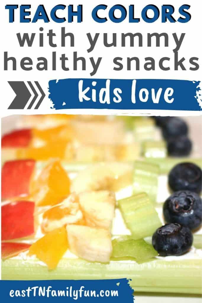 Teach Colors with Rainbow Snacks