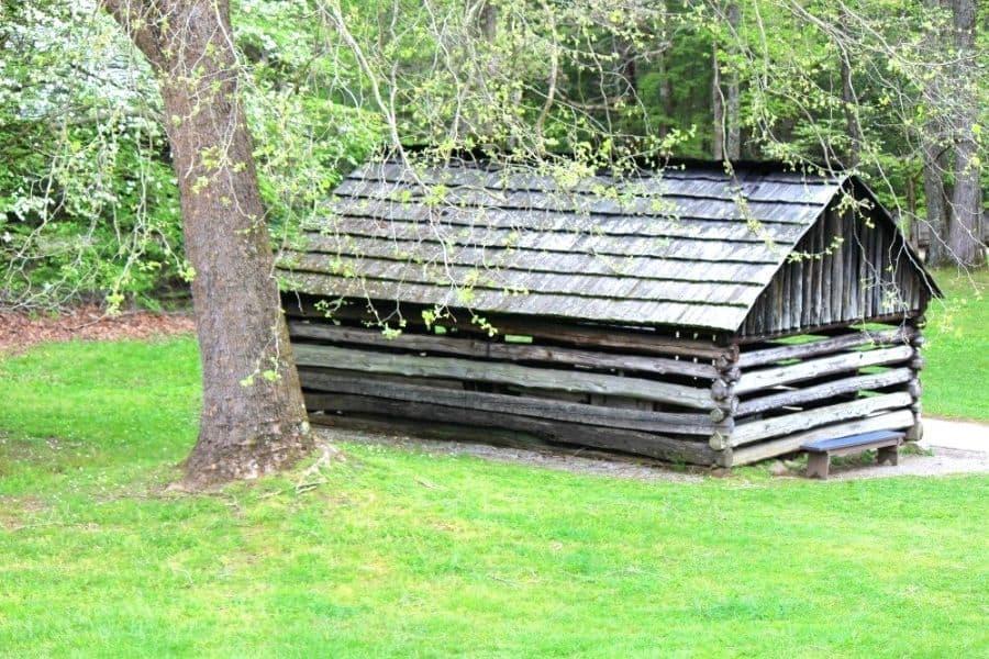 Historic Appalachian Building in Cades Cove TN