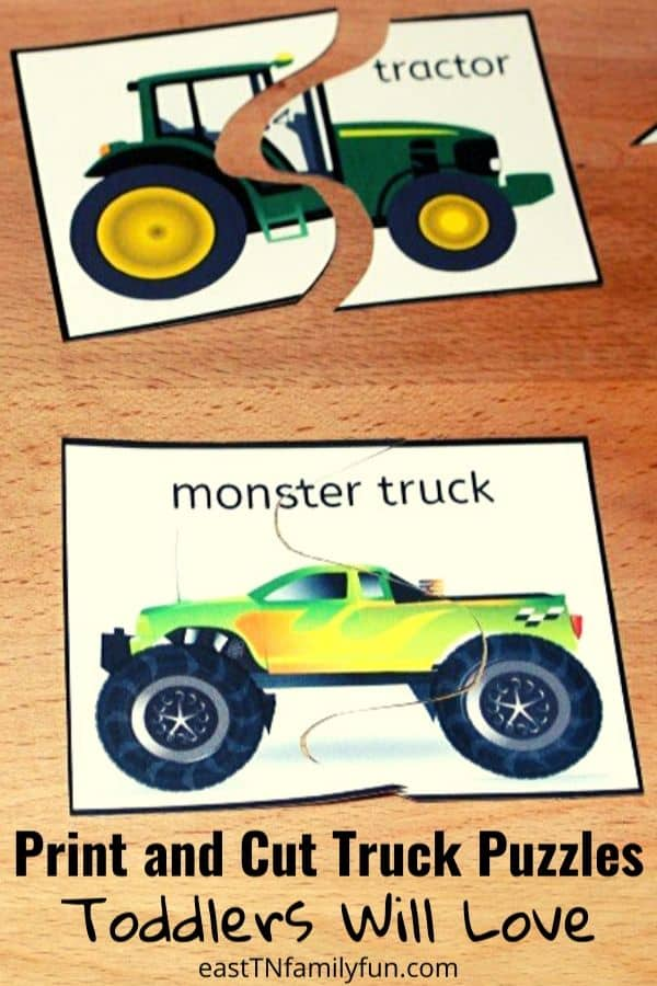 Printable Truck Puzzles