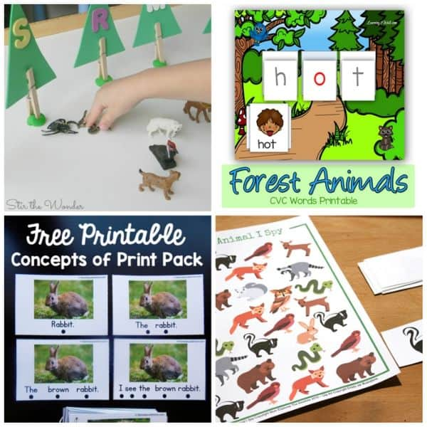 Forest Animal Activities for Kids