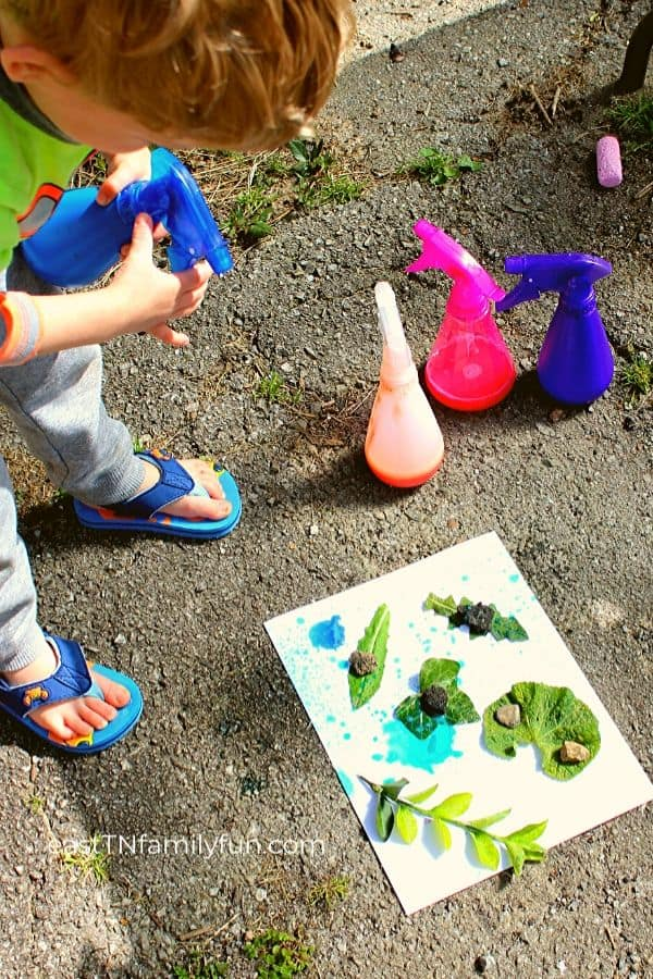Nature Spray Bottle Activity
