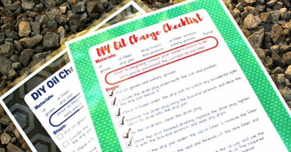 DIY Oil Change Checklist