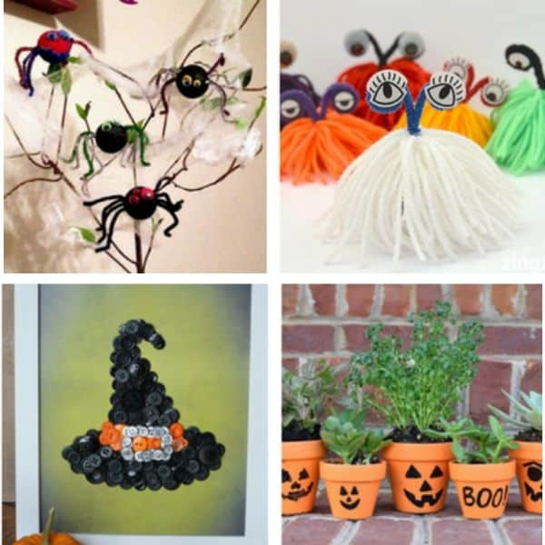 Flower Pot Halloween Craft