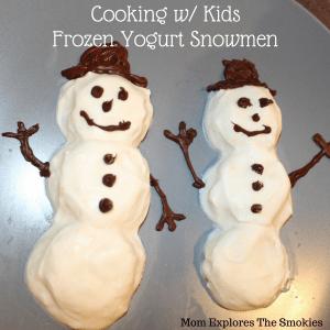 Frozen Yogurt Snowmen, Mom Explores The Smokies