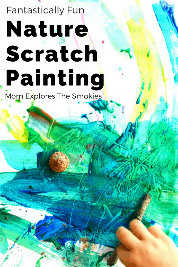 Scratch Art Nature Painting for Kids, Mom Explores The Smokies