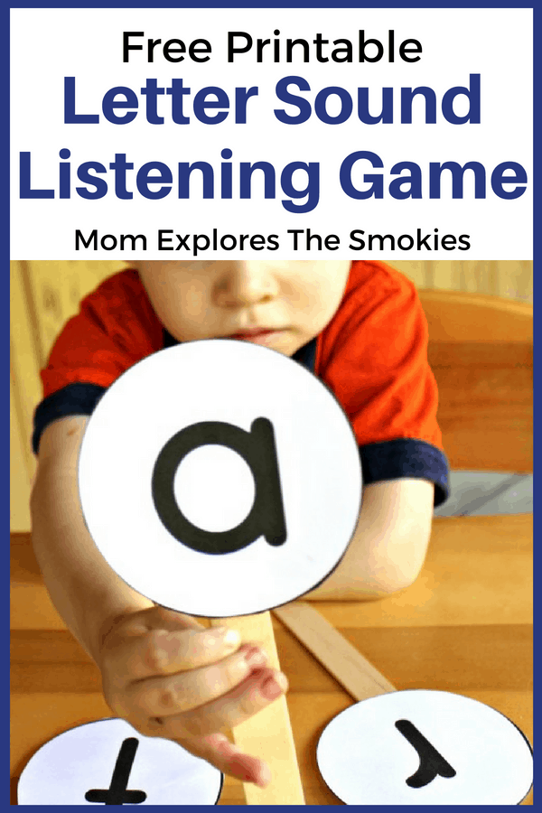 photograph about Letter Sound Games Printable known as Letter Appears Listening Video game Mother Explores the Smokies
