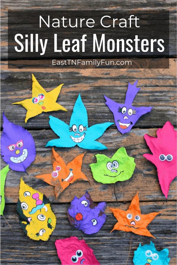 Leaf Monsters Nature Craft