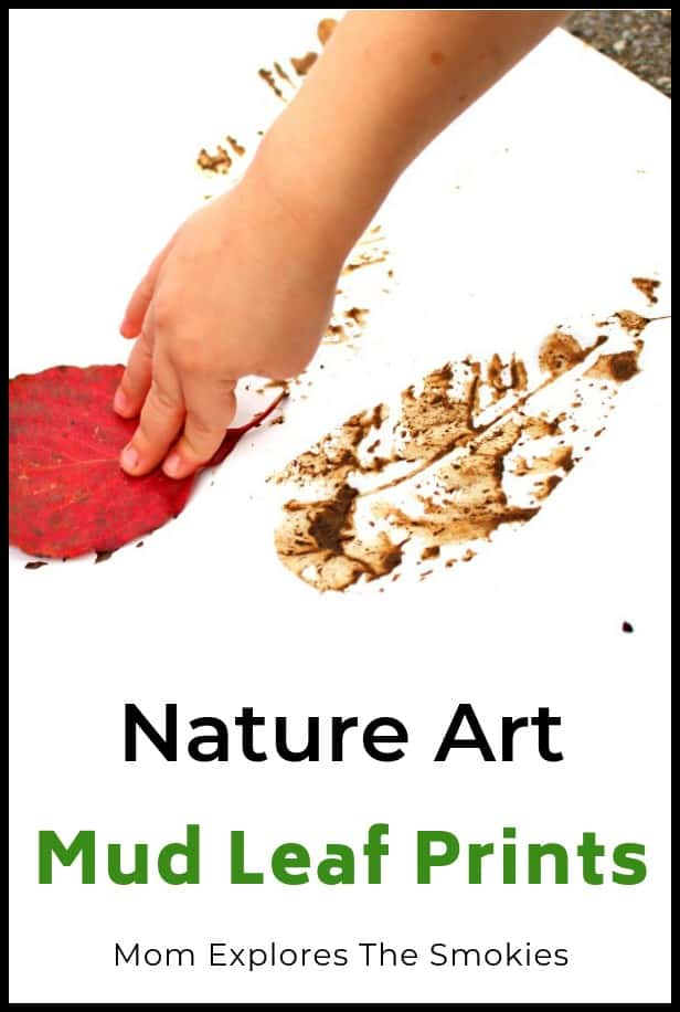 Mud Leaf Prints Kids Craft, Mom Explores The Smokies