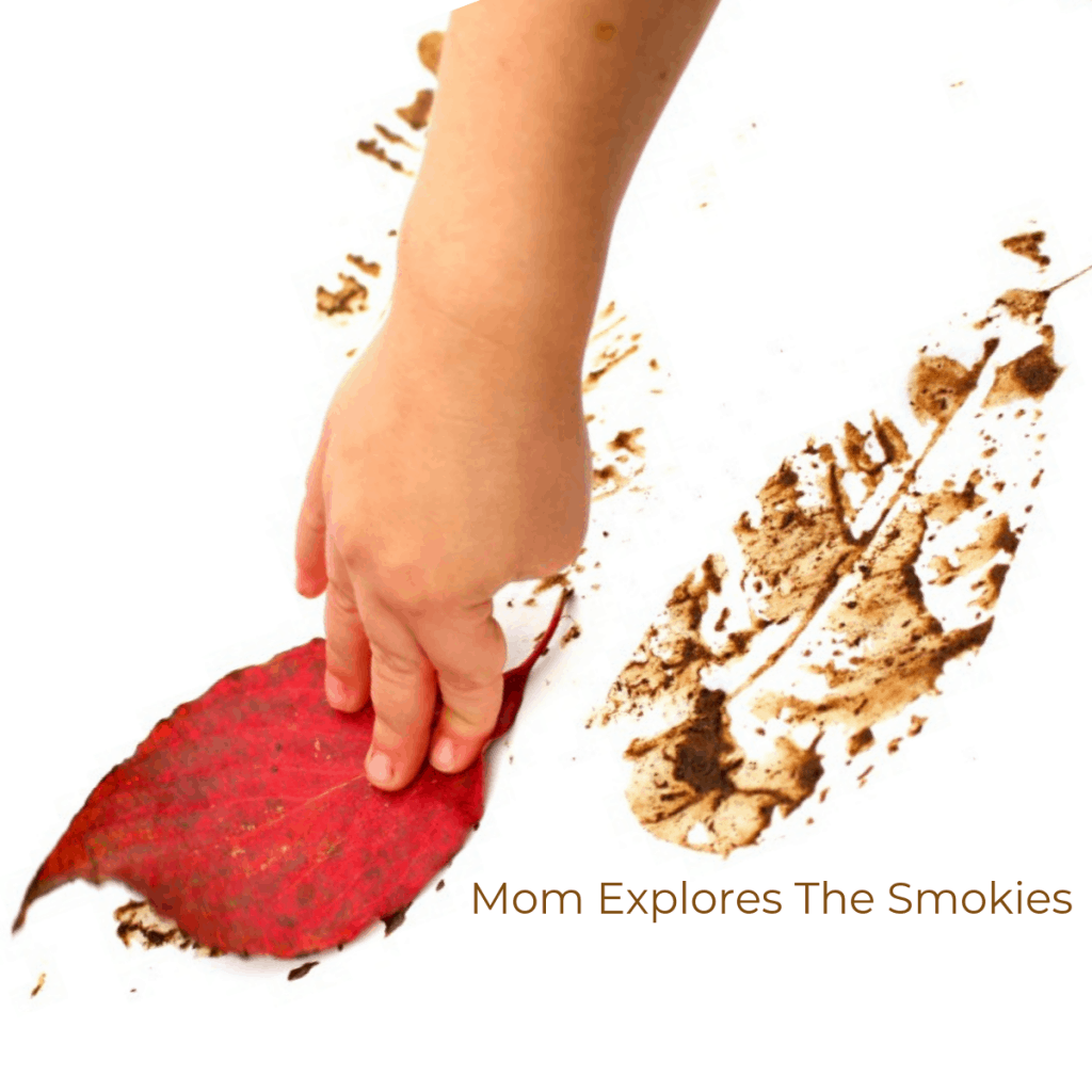 Leaf Prints Mud Craft Kids Craft, Mom Explores The Smokies