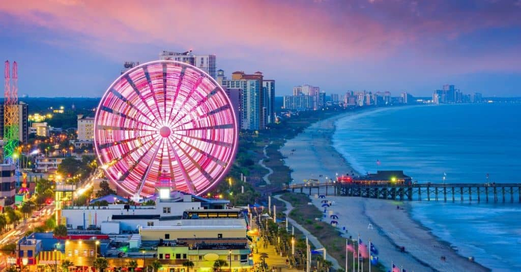 Myrtle beach South Carolina is one of 16 Southern US beaches to add to your travel bucket list.
