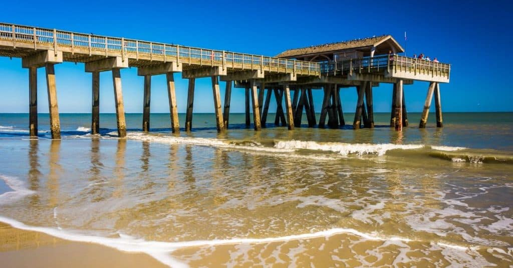 Tybee Island Georgia is one of 16 Southern US beaches to add to your travel bucket list.