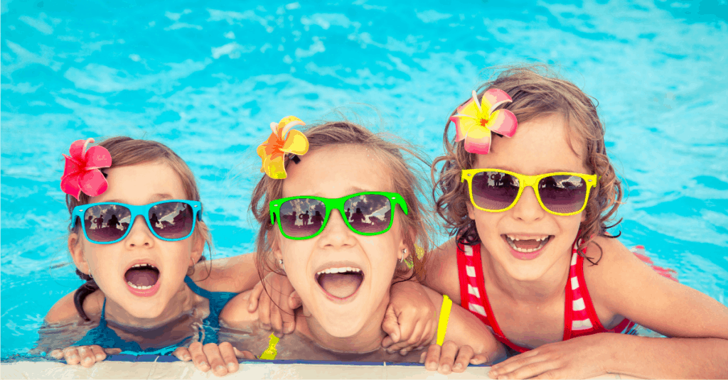 Girls having fun in East Tennessee Swimming pool