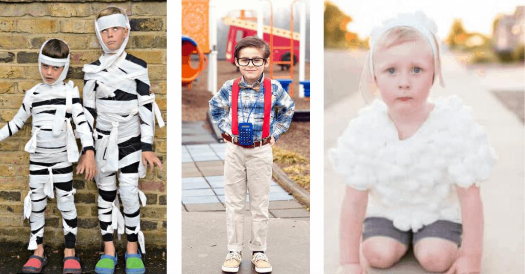 DIY Mummy, Nerd, and Lamb Costume