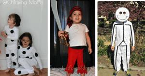 DIY Dalmatian, Pirate, and Stick Figure Halloween Costume
