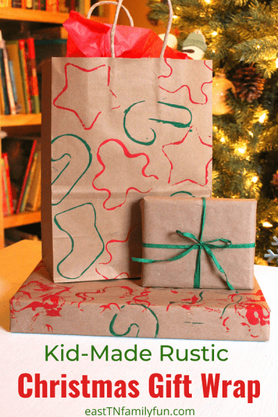 Christmas Paper Craft: Easy Kid-Made Gift Wrap
