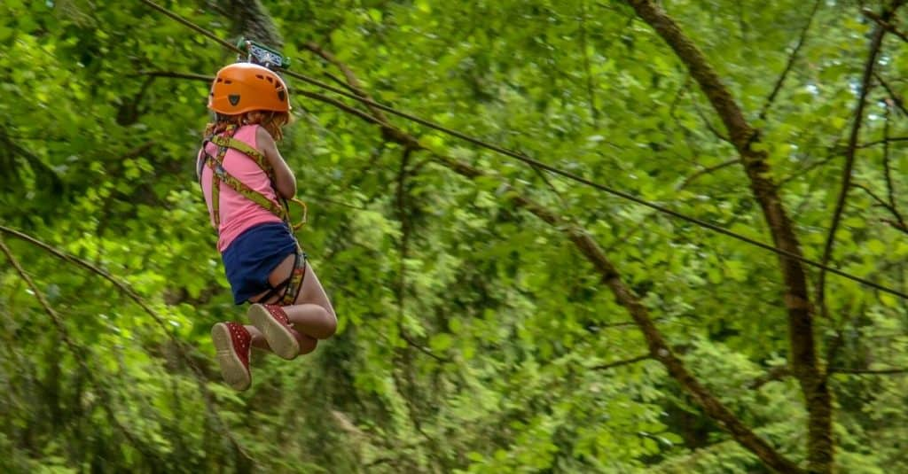 ziplining in the Smoky Mountains