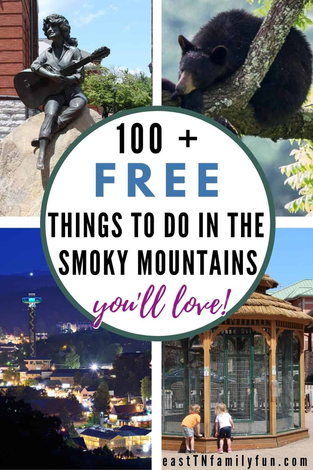 100 + Free Things to Do in the Smoky Mountains