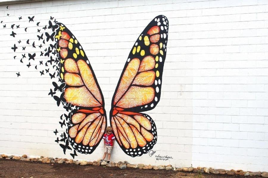 Butterfly Mural in Sevierville TN