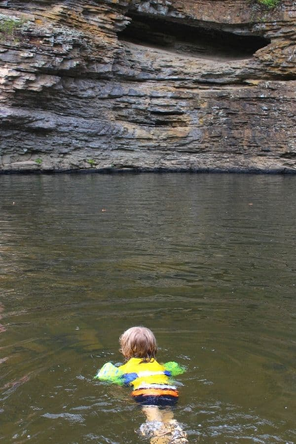 Swimming at Gorge Hole Fall Creek Falls State Park TN