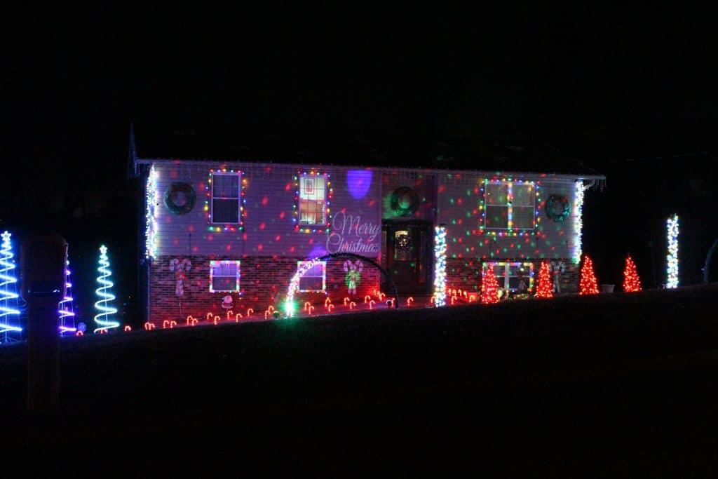 Animated Christmas Lights on West Hills, Maryville TN
