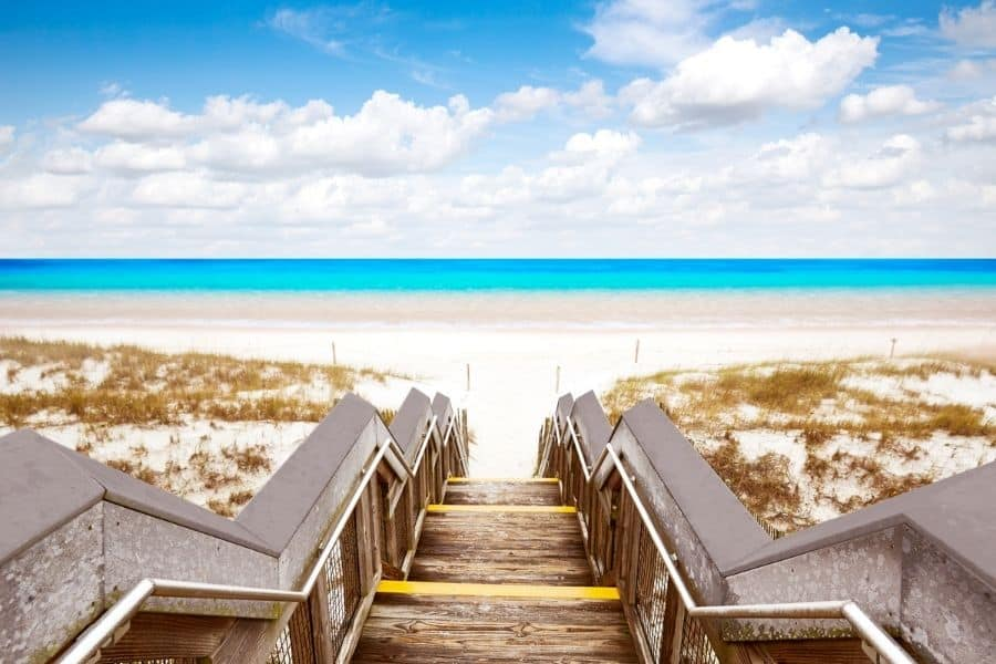 Closest Gulf Beach to Chattanooga TN: Destin Beach, FL