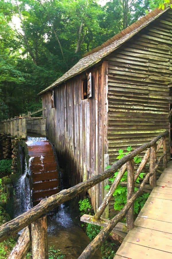 Cades Cove Activities The Historic Girst Mill with water wheel