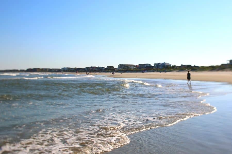 waves on the shore of Pawleys Island