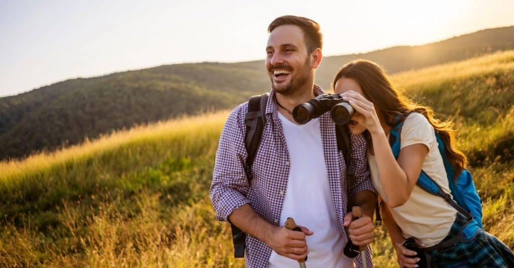 couple bird watching in mountains, great Chattanooga date ideas